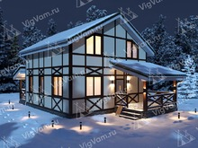 """Каркасный дом с мансардой V460 """"Вест-Джордан"""""""