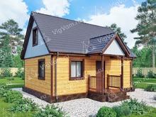 """Каркасный дом с мансардой V446 """"Джолит"""""""