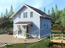 """Каркасный дом с мансардой и с 4 спальнями V445 """"Эвансвилл"""""""