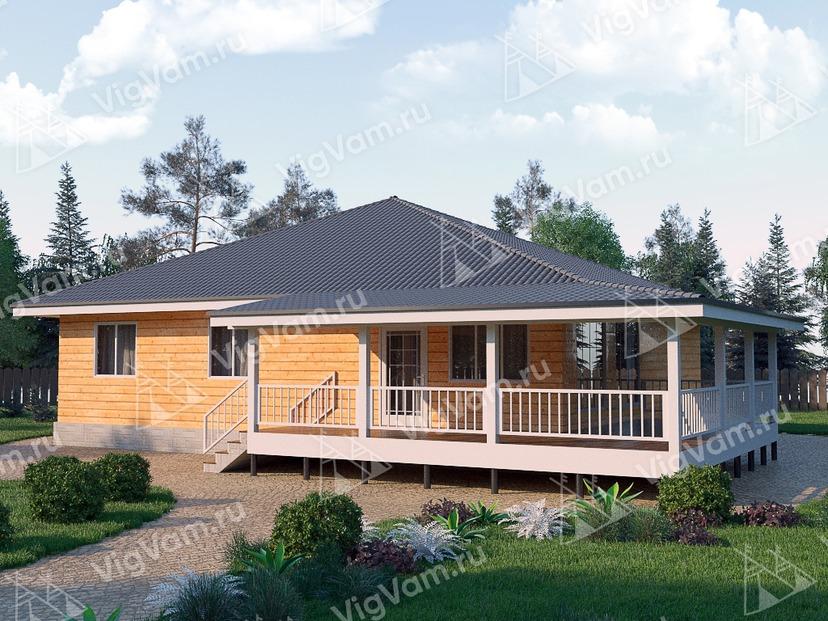 """Каркасный дом с 3 спальнями V444 """"Элгин"""""""