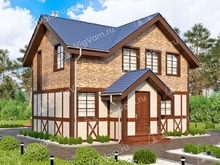 """Каркасный дом с 3 спальнями V456 """"Викторвилл"""""""