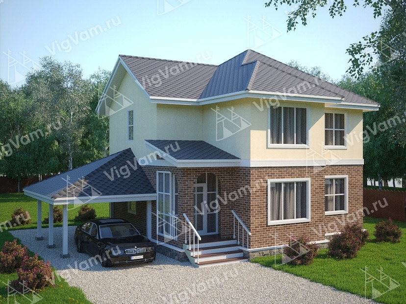 """Дом из газобетона с 3 спальнями VG455 """"Давенпорт"""""""