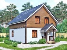 """Каркасный дом с мансардой V453 """"Дарем"""""""