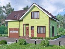 """Каркасный дом с гаражом V463 """"Вирджиния"""""""