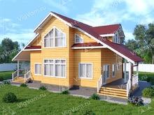 """Каркасный дом с мансардой V452 """"Дейтон"""""""