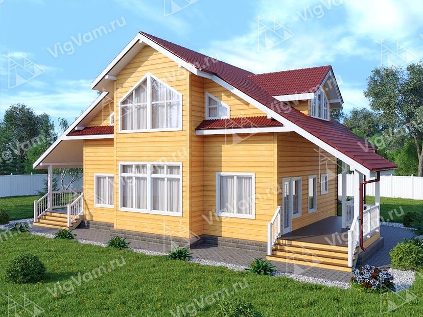 """Дом из керамического блока с мансардой VK452 """"Дейтон"""""""