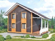 """Каркасный дом с мансардой V450 """"Денвер"""""""
