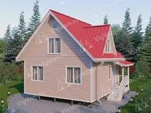 """Каркасный дом с мансардой V443 """"Эльк Грув"""""""