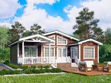 """Каркасный дом с 3 спальнями V417 """"Карроллтон"""""""