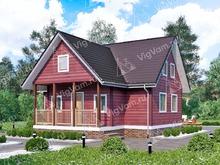 """Каркасный дом с мансардой V387 """"Сиракьюс"""""""