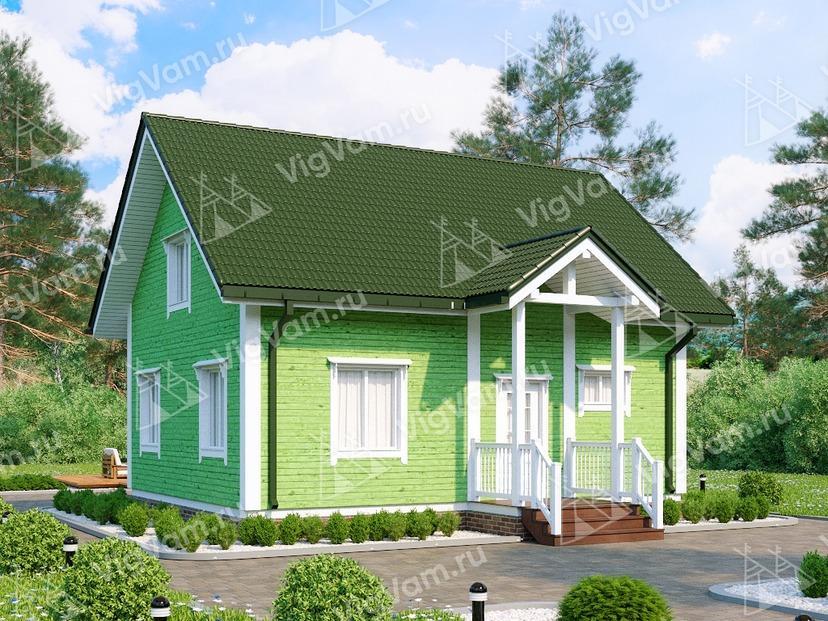 """Каркасный дом с сауной V416 """"Кейп Корал"""""""