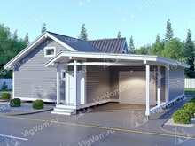 "Каркасный дом с гаражом V441 ""Эри"""