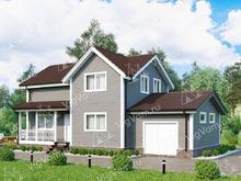 """Каркасный дом с гаражом V415 """"Киллин"""""""