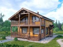 """Каркасный дом с сауной V414 """"Кларксвилл"""""""