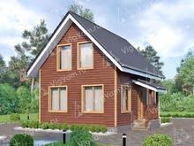 """Каркасный дом с мансардой V385 """"Скоттсдейл"""""""
