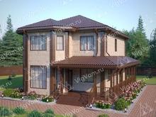 """Каркасный дом с эркером V439 """"Шривпорт"""""""