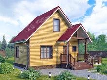 """Каркасный дом с мансардой V384 """"Спокан"""""""
