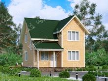 """Каркасный дом с 3 спальнями V412 """"Коламбус"""""""