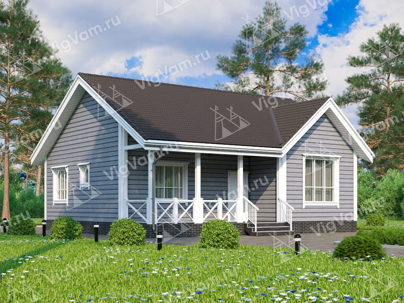 """Каркасный дом V375 """"Тампа"""""""