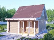 """Каркасный дом с мансардой и сауной V438 """"Абилин"""""""
