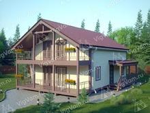 """Каркасный дом с мансардой V437 """"Аврора"""""""
