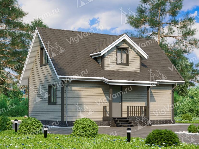 """Каркасный дом с мансардой V373 """"Толедо"""""""