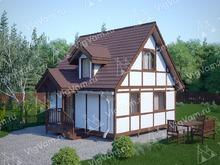 """Каркасный дом с мансардой V436 """"Акрон"""""""