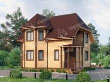 """Каркасный дом с эркером V410 """"Колумбия"""""""