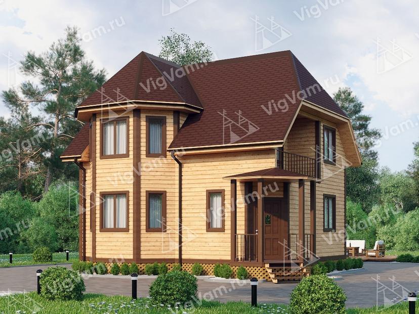 """Дом из керамического блока с эркером VK410 """"Колумбия"""""""