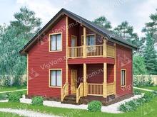 """Каркасный дом с мансардой и 3 спальнями V382 """"Стерлинг Хайтс"""""""