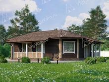 """Каркасный дом с 3 спальнями и котельной V372 """"Топика"""""""