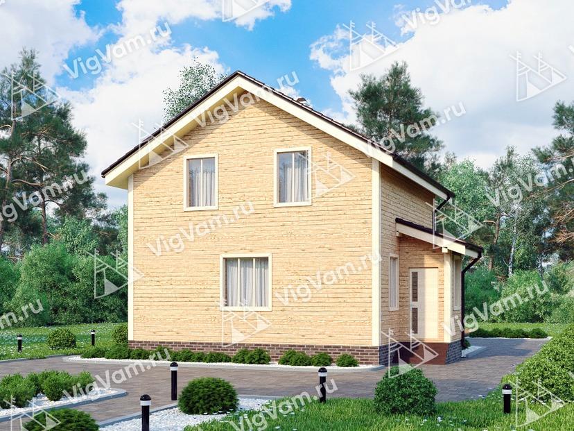 """Каркасный дом с мансардой и 3 спальнями V409 """"Конкорд"""""""