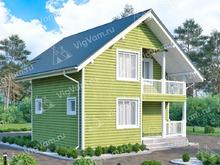 """Каркасный дом с мансардой и 3 спальнями V381 """"Стоктон"""""""