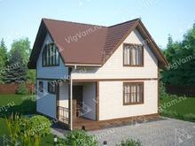 "Каркасный дом с мансардой V435 ""Аллентаун"""