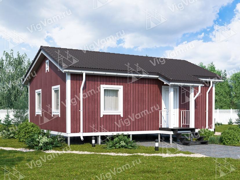 """Одноэтажный дом из газобетона VG371 """"Торнтон"""""""