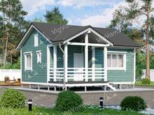 """Каркасный дом одноэтажный V370 """"Торранс"""""""