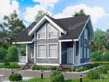 """Каркасный дом с мансардой и 4 спальнями V405 """"Кэри"""""""