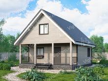 """Каркасный дом с мансардой V379 """"Су-Фолс"""""""