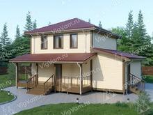 """Каркасный дом с террасой V426 """"Белвью"""""""