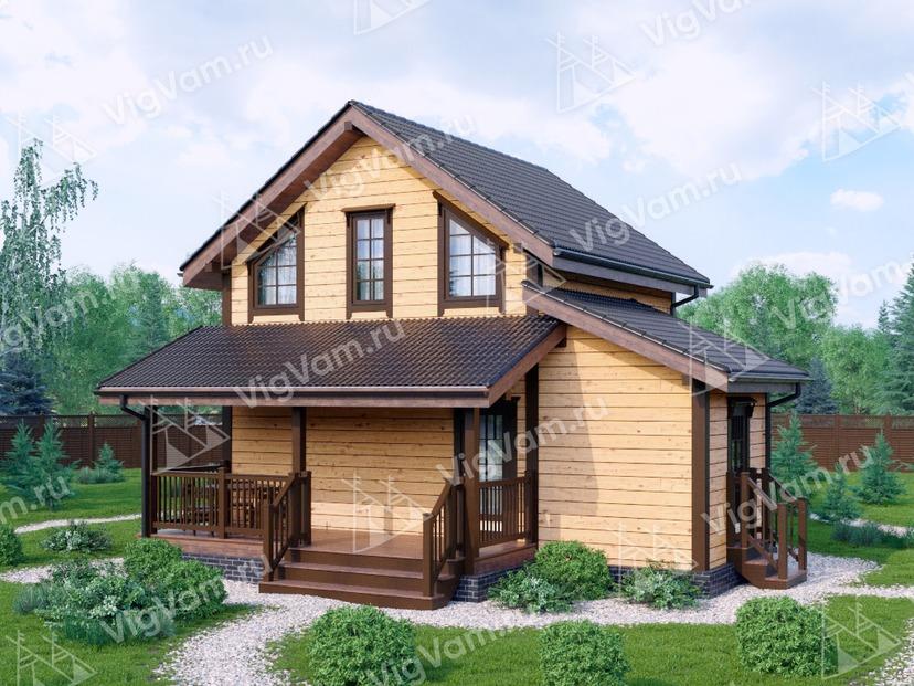 """Каркасный дом с 3 спальнями V401 """"Сан-Антонио"""""""