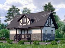 """Каркасный дом с мансардой V399 """"Саннивейл"""""""