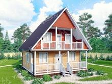 """Каркасный дом с мансардой V397 """"Санта-Клара"""""""