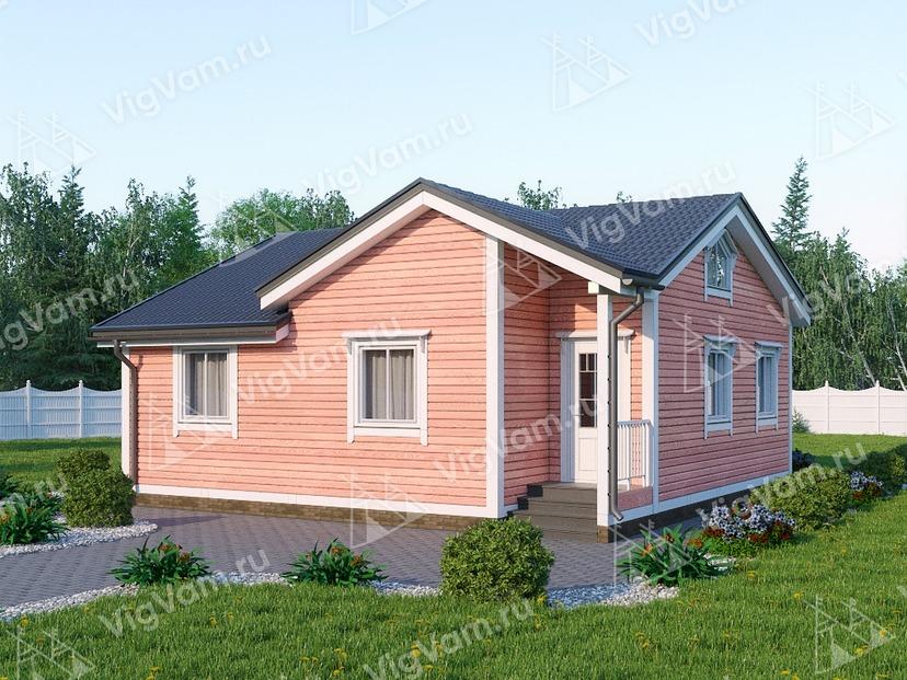 """Каркасный дом одноэтажный V425 """"Беркли"""""""