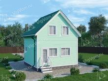 """Каркасный дом с мансардой V424 """"Биллингс"""""""