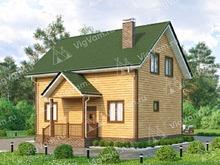 """Каркасный дом с мансардой и террасой V396 """"Санта-Роза"""""""