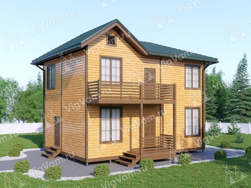 """Дом из керамического блока с эркером VK422 """"Бойсе"""""""