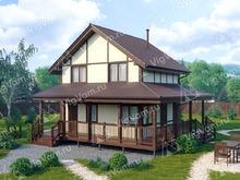 """Каркасный дом с сауной V421 """"Бомонт"""""""