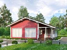 """Каркасный дом с террасой и 3 спальнями V392 """"Сентенниал"""""""
