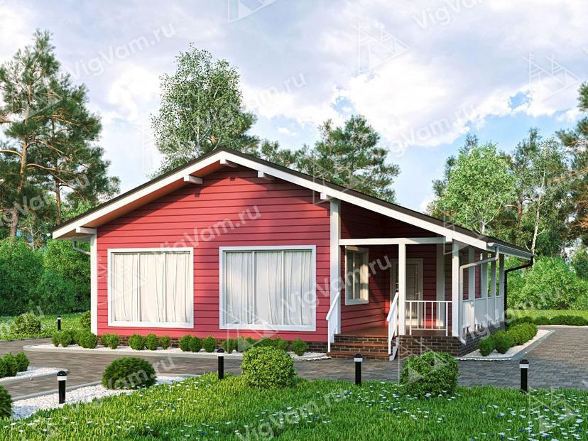 """Дом из керамического блока с террасой и 3 спальнями VK392 """"Сентенниал"""""""