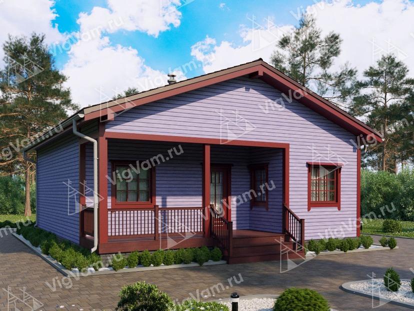 """Каркасный дом одноэтажный V391 """"Сент-Луис"""""""